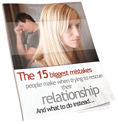 Ebook Cover: The 15 Biggest Mistakes Made Trying To Rescue A Relationship